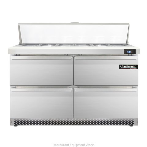 Continental Refrigerator SW48-12-FB-D Refrigerated Counter, Sandwich / Salad Top
