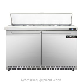 Continental Refrigerator SW48-12-FB Refrigerated Counter, Sandwich / Salad Top