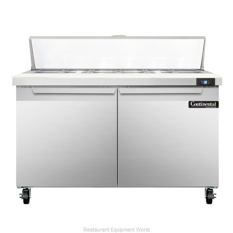 Continental Refrigerator SW48-12 Refrigerated Counter, Sandwich / Salad Top