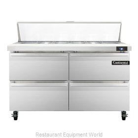 Continental Refrigerator SW48-12C-D Refrigerated Counter, Sandwich / Salad Top