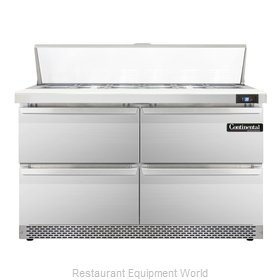 Continental Refrigerator SW48-12C-FB-D Refrigerated Counter, Sandwich / Salad To