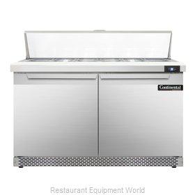 Continental Refrigerator SW48-12C-FB Refrigerated Counter, Sandwich / Salad Top