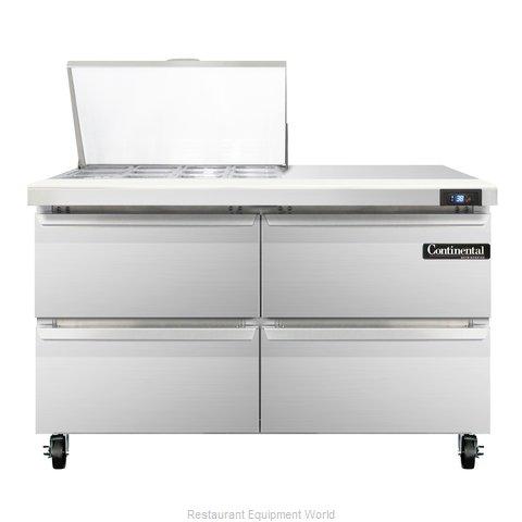 Continental Refrigerator SW48-12M-D Refrigerated Counter, Mega Top Sandwich / Sa