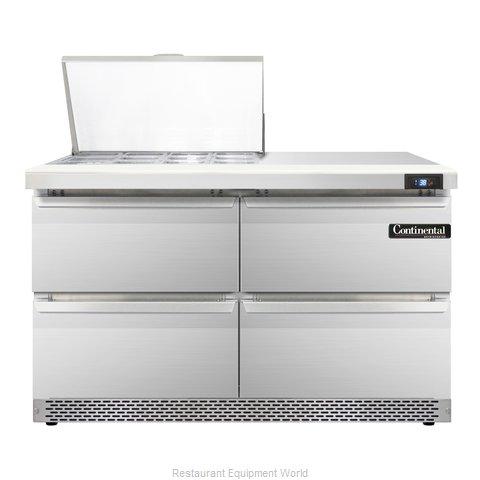 Continental Refrigerator SW48-12M-FB-D Refrigerated Counter, Mega Top Sandwich /
