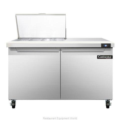 Continental Refrigerator SW48-12M Refrigerated Counter, Mega Top Sandwich / Sala