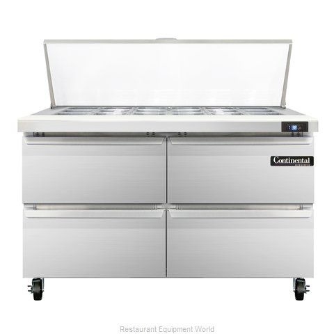 Continental Refrigerator SW48-18M-D Refrigerated Counter, Mega Top Sandwich / Sa
