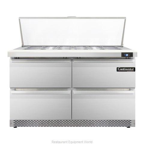 Continental Refrigerator SW48-18M-FB-D Refrigerated Counter, Mega Top Sandwich /