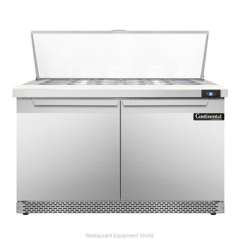 Continental Refrigerator SW48-18M-FB Refrigerated Counter, Mega Top Sandwich / S