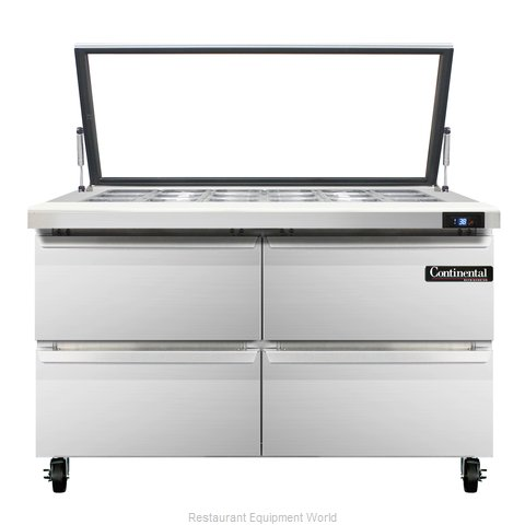 Continental Refrigerator SW48-18M-HGL-D Refrigerated Counter, Mega Top Sandwich