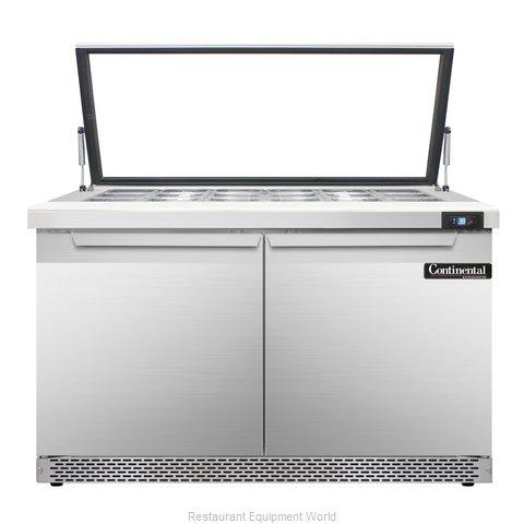 Continental Refrigerator SW48-18M-HGL-FB Refrigerated Counter, Mega Top Sandwich