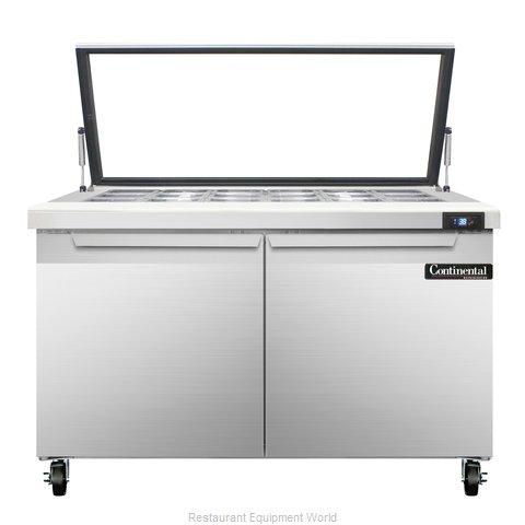 Continental Refrigerator SW48-18M-HGL Refrigerated Counter, Mega Top Sandwich /