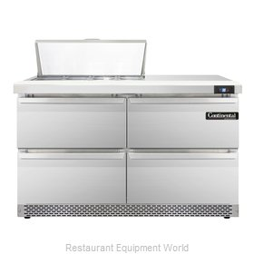 Continental Refrigerator SW48-8-FB-D Refrigerated Counter, Sandwich / Salad Top