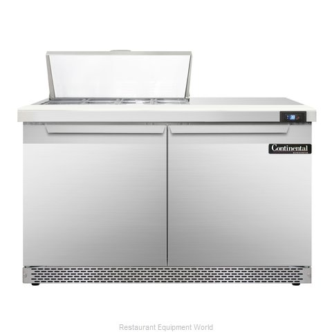Continental Refrigerator SW48-8-FB Refrigerated Counter, Sandwich / Salad Top