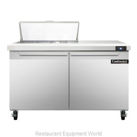 Continental Refrigerator SW48-8 Refrigerated Counter, Sandwich / Salad Top