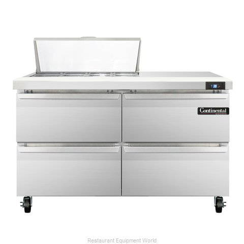 Continental Refrigerator SW48-8C-D Refrigerated Counter, Sandwich / Salad Top