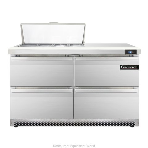 Continental Refrigerator SW48-8C-FB-D Refrigerated Counter, Sandwich / Salad Top