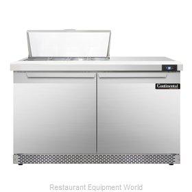 Continental Refrigerator SW48-8C-FB Refrigerated Counter, Sandwich / Salad Top