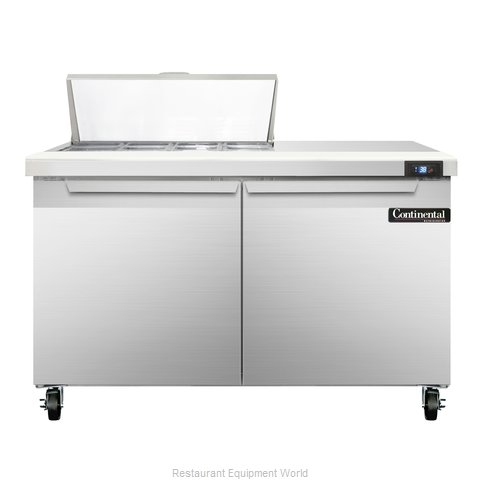 Continental Refrigerator SW48-8C Refrigerated Counter, Sandwich / Salad Top