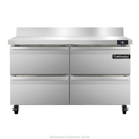 Continental Refrigerator SW48-BS-D Refrigerated Counter, Work Top