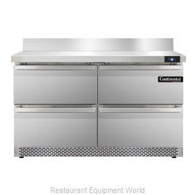 Continental Refrigerator SW48-BS-FB-D Refrigerated Counter, Work Top