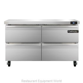 Continental Refrigerator SW48-D Refrigerated Counter, Work Top