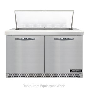 Continental Refrigerator SW48N18M-FB Refrigerated Counter, Mega Top Sandwich / S