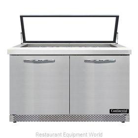 Continental Refrigerator SW48N18M-HGL-FB Refrigerated Counter, Mega Top Sandwich