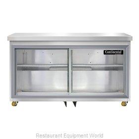 Continental Refrigerator SW48NSGD-U Refrigerator, Undercounter, Reach-In