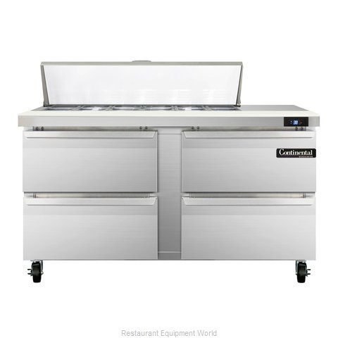 Continental Refrigerator SW60-12-D Refrigerated Counter, Sandwich / Salad Top