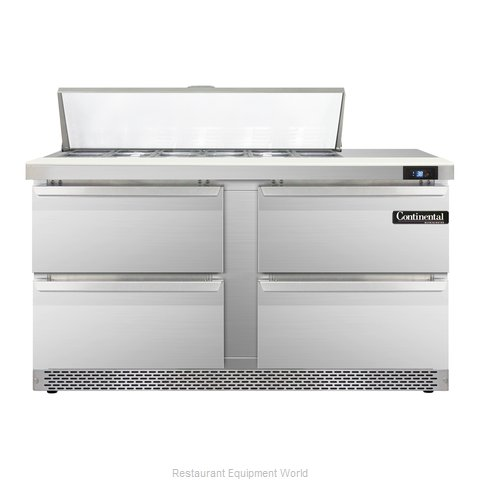 Continental Refrigerator SW60-12-FB-D Refrigerated Counter, Sandwich / Salad Top