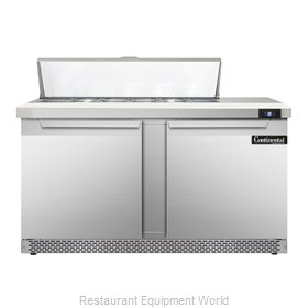 Continental Refrigerator SW60-12-FB Refrigerated Counter, Sandwich / Salad Top