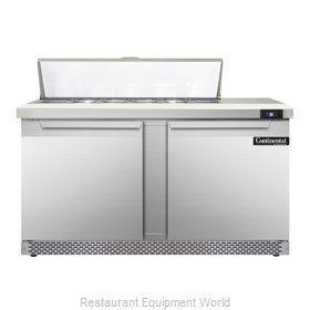 Continental Refrigerator SW60-12C-FB Refrigerated Counter, Sandwich / Salad Top