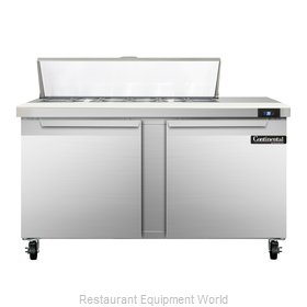Continental Refrigerator SW60-12C Refrigerated Counter, Sandwich / Salad Top