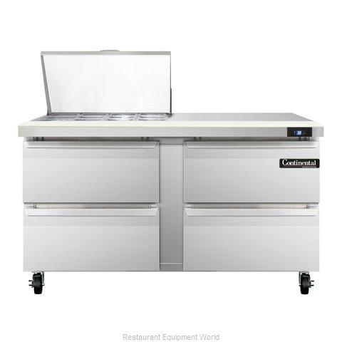 Continental Refrigerator SW60-12M-D Refrigerated Counter, Mega Top Sandwich / Sa
