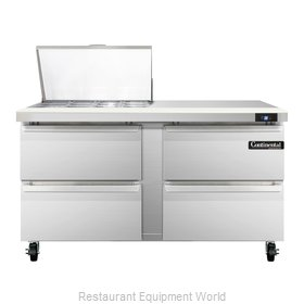 Continental Refrigerator SW60-12M-D Refrigerated Counter, Mega Top Sandwich / Sa