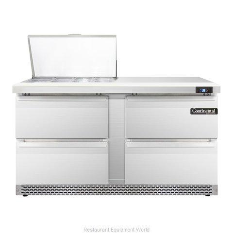 Continental Refrigerator SW60-12M-FB-D Refrigerated Counter, Mega Top Sandwich /