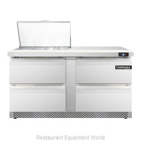 Continental Refrigerator SW60-12M-FB-D Refrigerated Counter, Mega Top Sandwich /