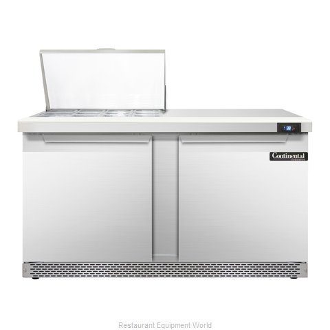 Continental Refrigerator SW60-12M-FB Refrigerated Counter, Mega Top Sandwich / S