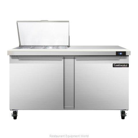 Continental Refrigerator SW60-12M Refrigerated Counter, Mega Top Sandwich / Sala