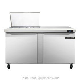 Continental Refrigerator SW60-12M Refrigerated Counter, Mega Top Sandwich / Sala