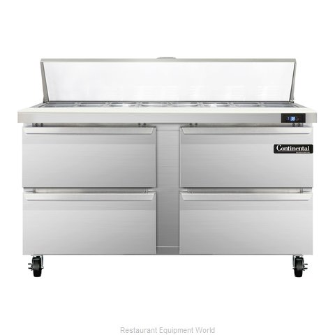 Continental Refrigerator SW60-16-D Refrigerated Counter, Sandwich / Salad Top