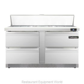 Continental Refrigerator SW60-16-FB-D Refrigerated Counter, Sandwich / Salad Top