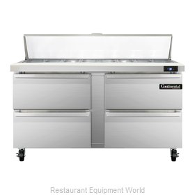 Continental Refrigerator SW60-16C-D Refrigerated Counter, Sandwich / Salad Top