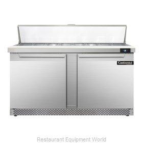 Continental Refrigerator SW60-16C-FB Refrigerated Counter, Sandwich / Salad Top