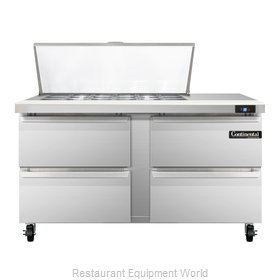 Continental Refrigerator SW60-18M-D Refrigerated Counter, Mega Top Sandwich / Sa