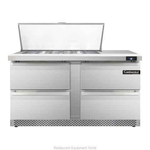 Continental Refrigerator SW60-18M-FB-D Refrigerated Counter, Mega Top Sandwich /