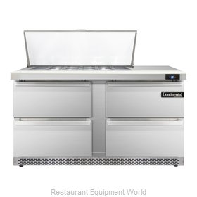 Continental Refrigerator SW60-18M-FB-D Refrigerated Counter, Mega Top Sandwich /