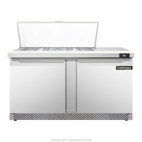 Continental Refrigerator SW60-18M-FB Refrigerated Counter, Mega Top Sandwich / S