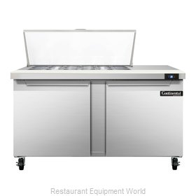 Continental Refrigerator SW60-18M Refrigerated Counter, Mega Top Sandwich / Sala