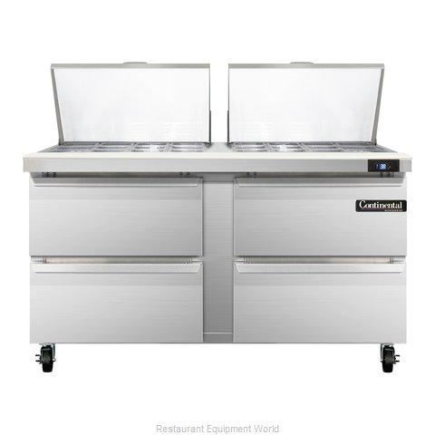 Continental Refrigerator SW60-24M-D Refrigerated Counter, Mega Top Sandwich / Sa